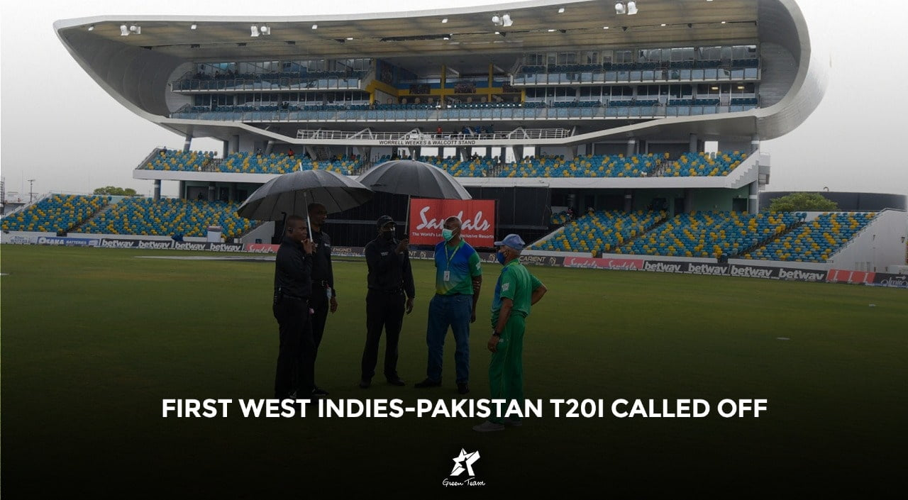1st West Indies Pakistan T20I called off due to rain