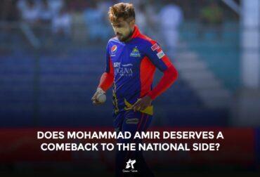 Mohammad Amir in Karachi Kings Jersey